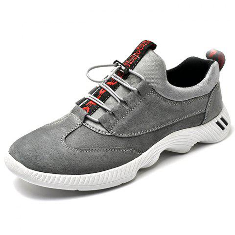 PU Leather Casual Sports Shoes - GRAY EU 45