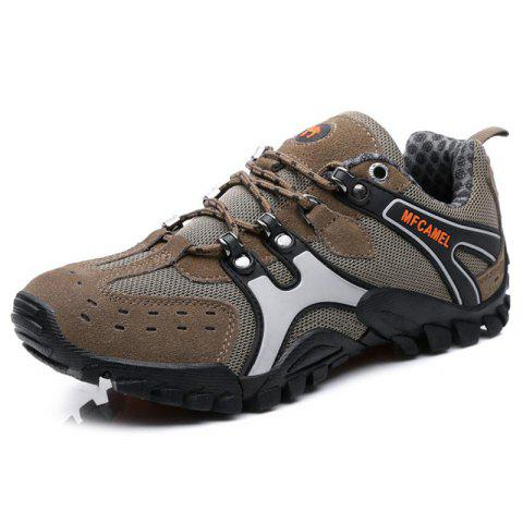Men Casual Athletic Sports Running Shoes Sneakers - LIGHT BROWN EU 41