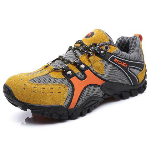 Men Casual Athletic Sports Running Shoes Sneakers - BEE YELLOW EU 43
