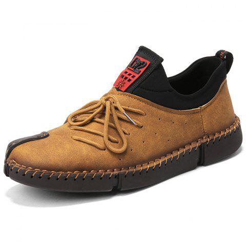 New Leisure Fashion Men's Oxford Tods Shoes - CAMEL BROWN EU 40