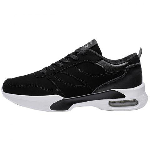 Lace Up Casual Athletic Sports Shoes Sneakers for Man - BLACK EU 40