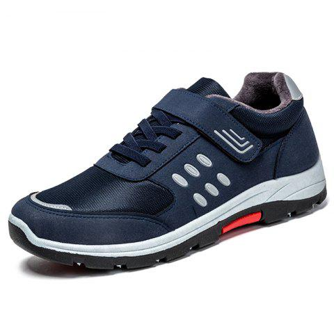 Mesh Wearable Lace Up Casual Sports Shoes Sneakers for Men - MIDNIGHT BLUE EU 41