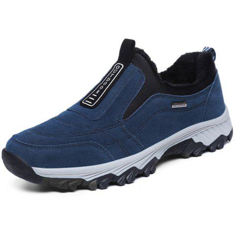 Outdoor Warm Shock-absorbing Slip-on Sports Shoes for Men - LAPIS BLUE EU 42