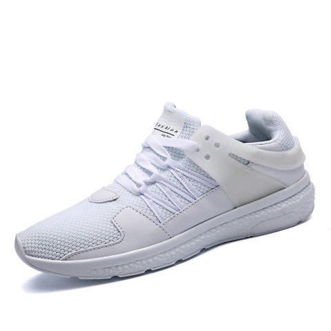Breathable Sports Jogging Sneakers - WHITE EU 42