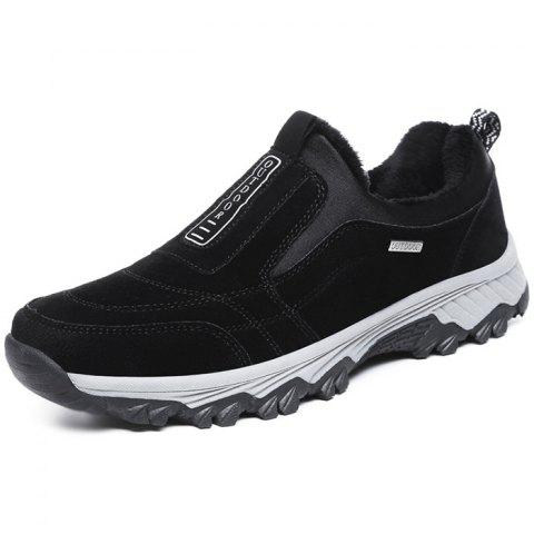 Outdoor Warm Shock-absorbing Slip-on Sports Shoes for Men - BLACK EU 42