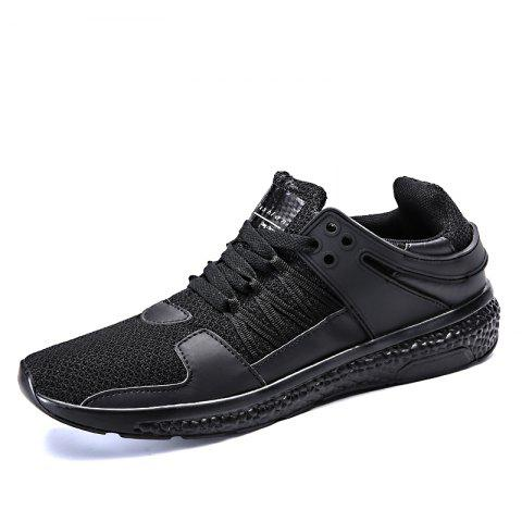 Breathable Sports Jogging Sneakers - BLACK EU 44