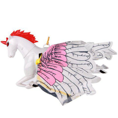 Electric Flying Unicorn Sling Hovering Pegasus Toy Set Head Brighten up Horse Call Voice - WHITE