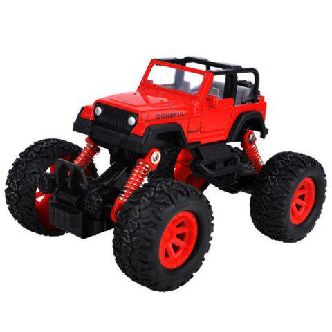 Simulation Automobile Model Shock Absorber Off-road Toy Car - LAVA RED