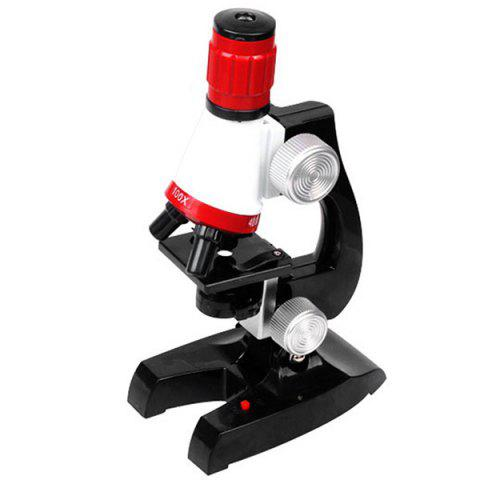 Biological Science HD 1200 Times Microscope Toy for Children Early Education - BLACK
