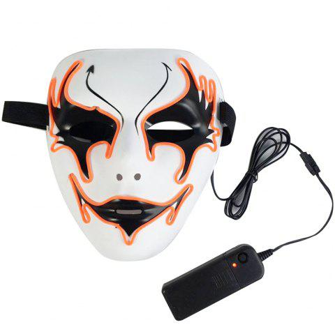 EL Cold Light Ghosts Dance Hip-hop Mask - WHITE