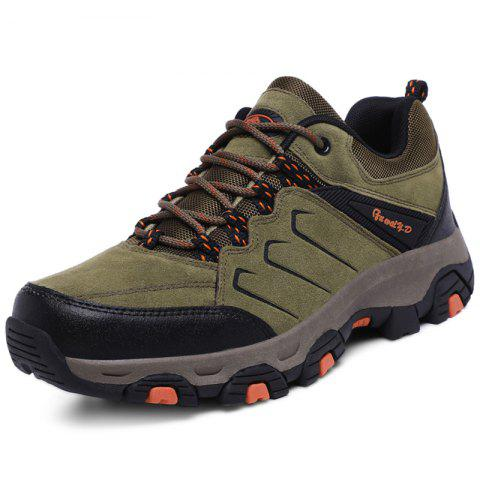 Stylish Outdoor Anti-slip Shock-absorbing Hiking Shoes for Men - BROWN EU 44