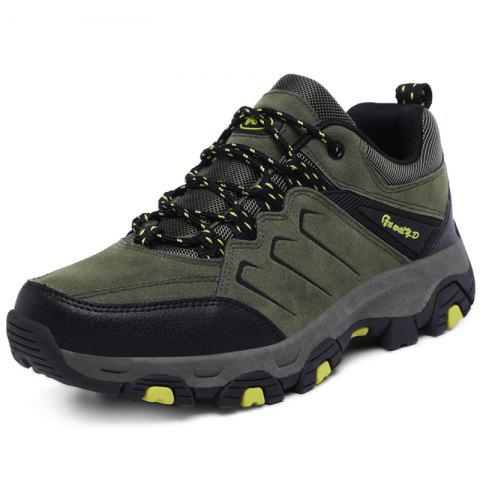 Stylish Outdoor Anti-slip Shock-absorbing Hiking Shoes for Men - ARMY GREEN EU 41