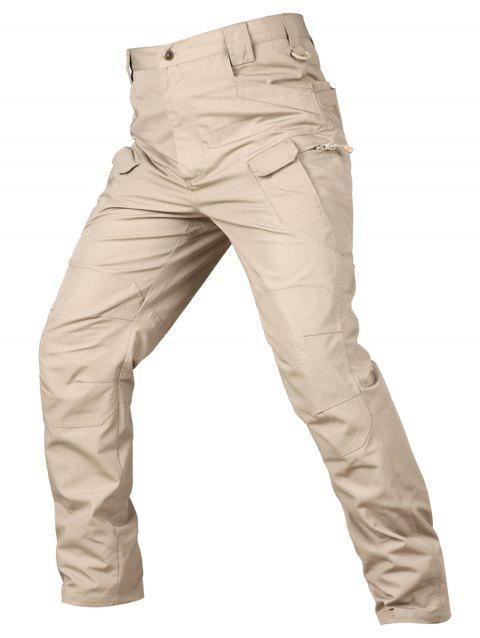Concise Stylish Leisure Solid Color Pants - LIGHT KHAKI 4XL