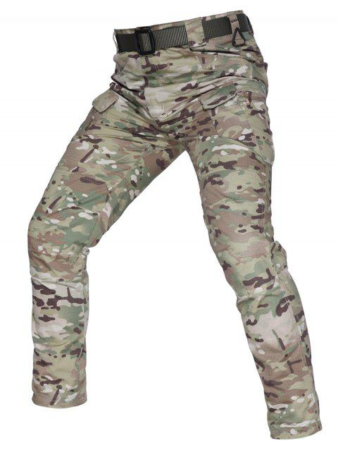 Concise Stylish Leisure Solid Color Pants - WOODLAND CAMOUFLAGE L