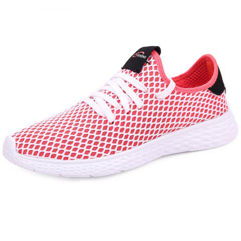 Mesh Breathable Sports Shoes Sneakers for Men - BEAN RED EU 41