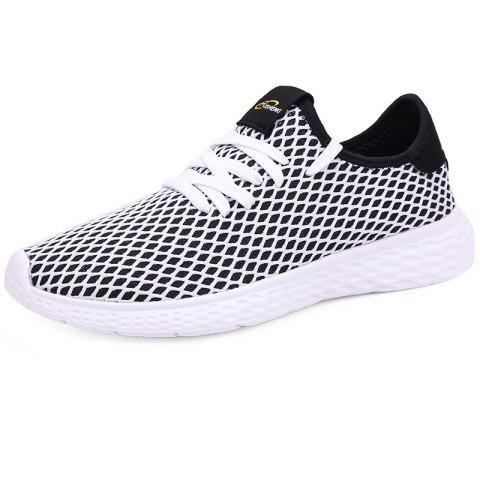 Mesh Breathable Sports Shoes Sneakers for Men - BLACK EU 40
