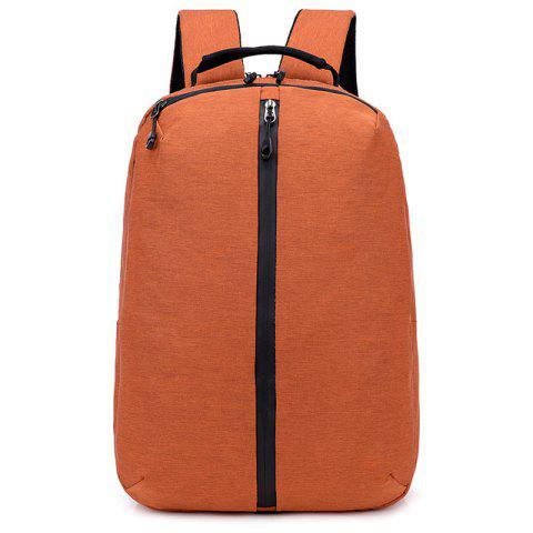 Trendy Solid Color Outdoor Backpack - CHOCOLATE