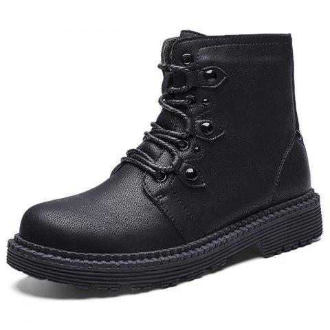 Stylish British Style Anti-slip Lace-up Boots for Men - BLACK EU 40