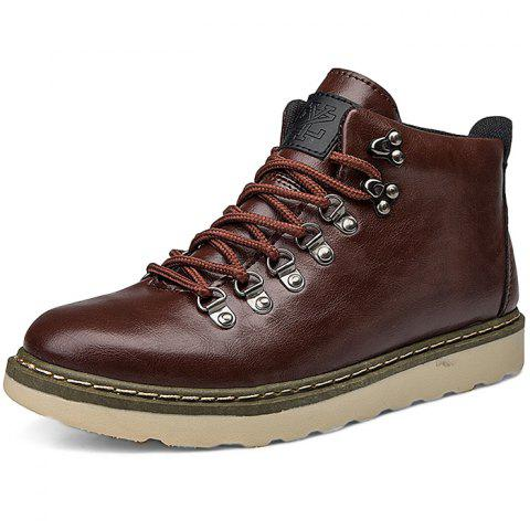 Stylish Anti-slip Lace-up Boots for Men - BLOOD RED EU 43