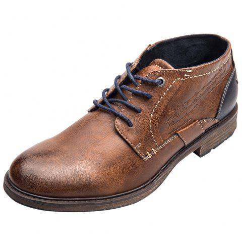 XPER Stylish Comfortable Leisure Lace-up Casual Shoes for Men - BROWN EU 45