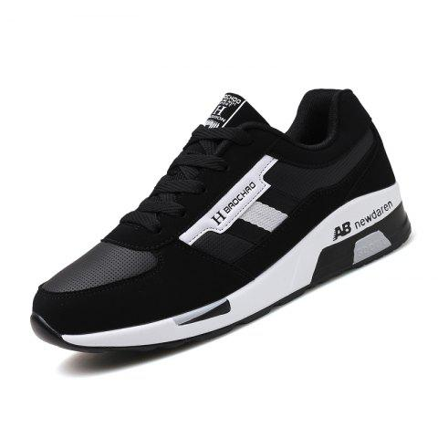 Hommes Wearable Lace Up Casual Chaussures de sport Sneakers - Blanc EU 39