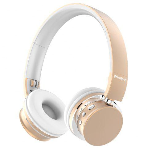 TH - M9 Business Wireless Bluetooth Headset Stereo Sound Headphone - GOLD