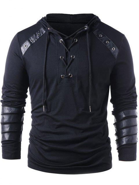 4f89c327b6c 41% OFF  2019 Stylish Lace Up Drawstring Hoodie For Men In CADETBLUE ...
