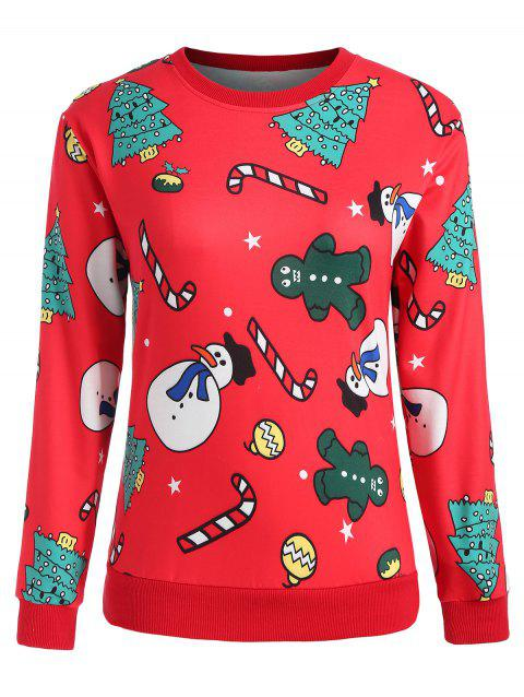 Plus Size Christmas Graphic Sweatshirt - RED 4X