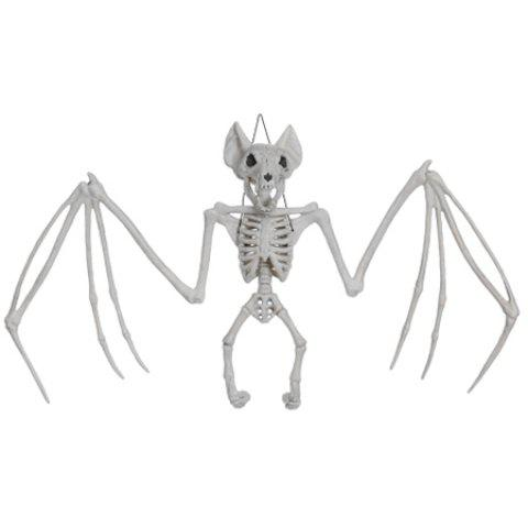 Trendy Halloween Skeleton Hanging Bat Bone Toy - WHITE