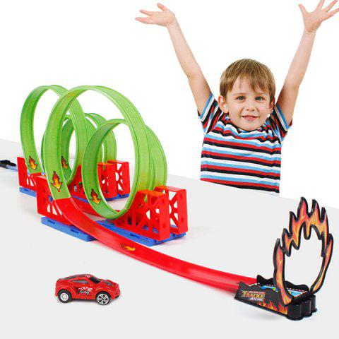 Trendy Racing Car Track Toy Set for Kids - RED