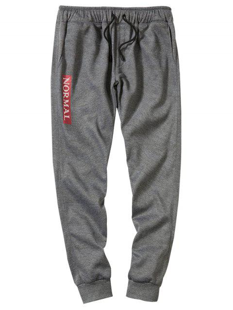 Concise Stylish Comfortable Polyester Pants - GRAY XL