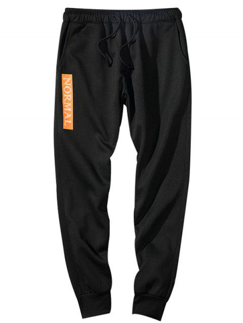 Concise Stylish Comfortable Polyester Pants - BLACK XL