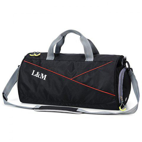 L M 1004 Large Capacity Crossbody Bag - BLACK