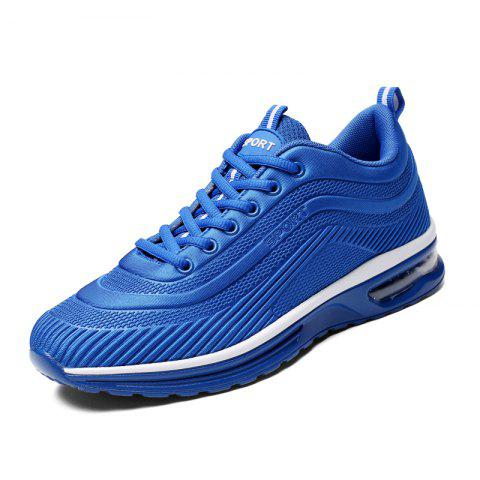 Lace Up Casual Running Shoes Sneakers for Men - BLUE EU 42