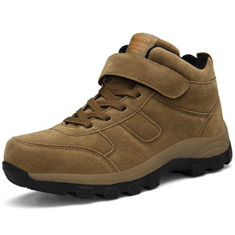 Warm Fleece Anti-slip Casual Shoes for Men - KHAKI EU 44