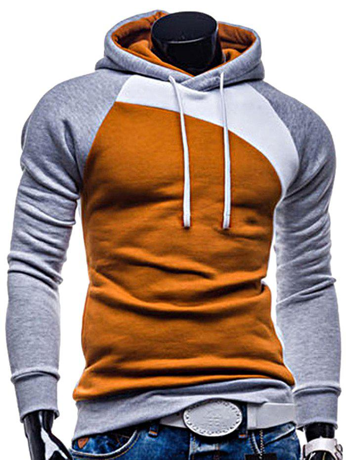 Raglan Long Sleeve Hoodie for Men - multicolor A M