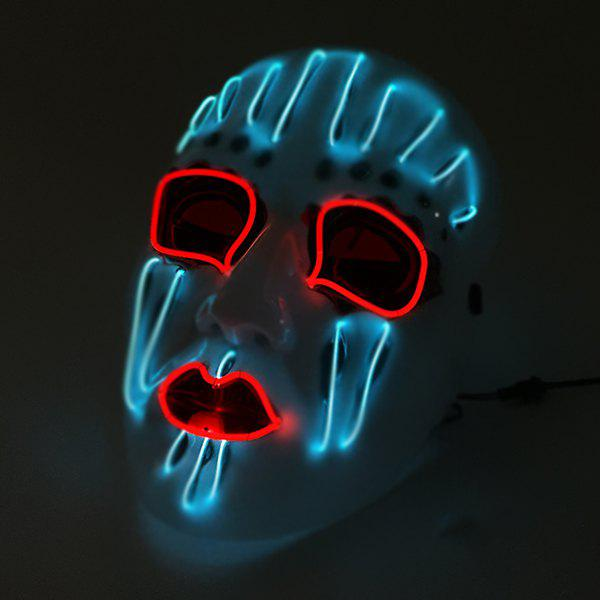Halloween EL Cold Light Glowing Mask Christmas Party Props - WHITE