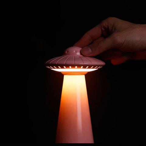 Spaceship Style Portable LED Table Lamp for Home Use - PINK
