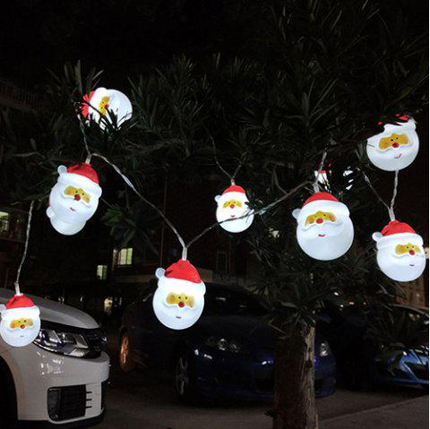 10LEDs 1.5m Santa Lights Holiday Garden Party Decoration Pendant Bar House Party Decoration Lighting - multicolor A COOL WHITE LIGHT