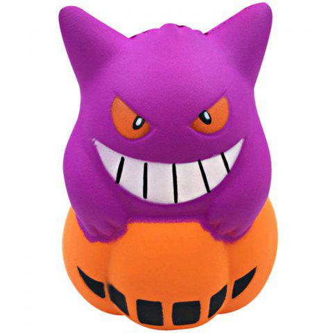 Lovely Halloween Monster Pumpkin Decompression Toy - multicolor A