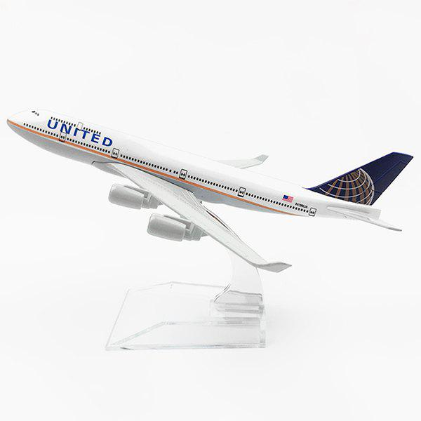 Highly Simulated Alloy Airplane Model Toy for Decoration Collection - WHITE