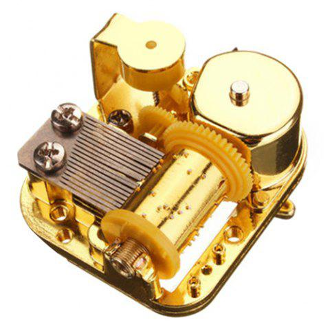 Mechanical DIY Windup Music Box Movement with Screws Key - GOLD SPIRITED AWAY
