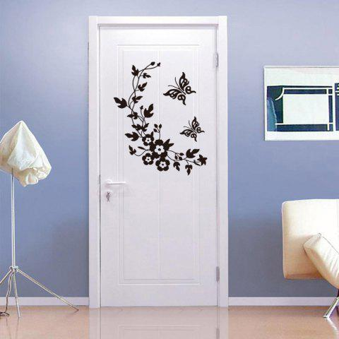 Butterfly Sticker Wallpaper PVC Removable Toilet Room Decoration Decal - BLACK