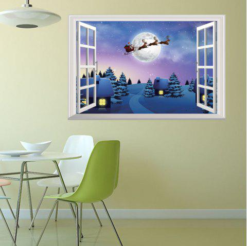 Christmas Sticker Wallpaper PVC Decoration Decal - BLUE
