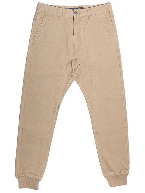 A LA MASTER Casual Jogger Pocketed Sweatpants for Men - ANTIQUE WHITE 38