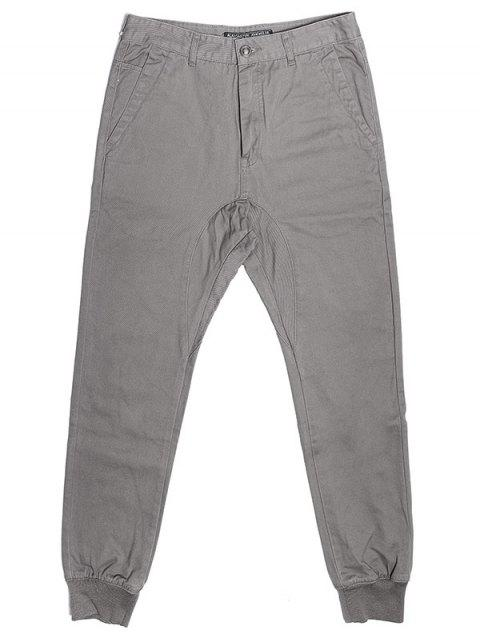 A LA MASTER Casual Jogger Pocketed Sweatpants for Men - GRAY 29