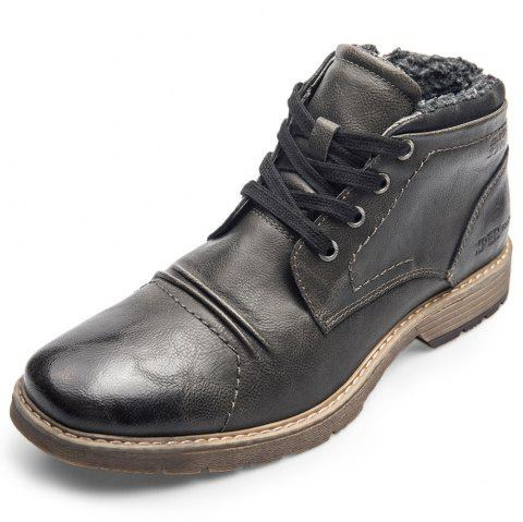 XPER Warm Comfortable Leisure High-top Lace-up Boots for Men - DARK SLATE GREY EU 45