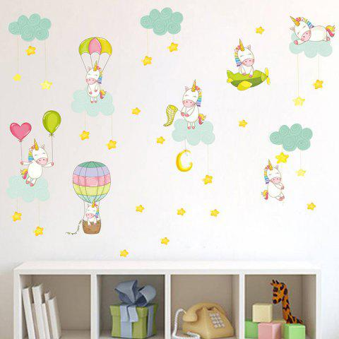 Sweet Pink Unicorn PVC Sticker Wallpaper for Room Decoration