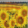 Sunflower Pattern Shower Curtain - multicolor W71 X L79 INCH