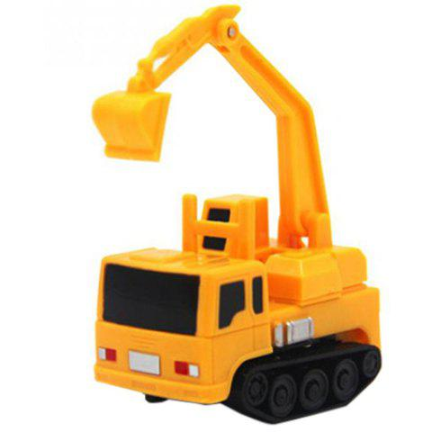 Creative Magic Inductive Truck Follow Drawn Line Car Toy 1pc - YELLOW TYPE A